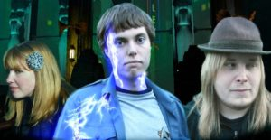 """From left: Eleanor, Captain Lewis and Jumb'a face a bizarre enemy in """"Rapture"""