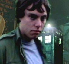 Luke Sutton as Captain Lewis with his TARDIS