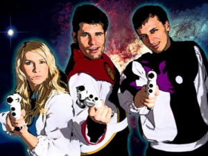 The stars of Voyage Trekkers are, from left: Doctor Rena, Captain Sunstrike and First Officer Powell