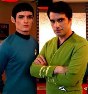 Ah, for the good old days: Jeff Quinn as the first Phase II Spock with James Cawley as Kirk