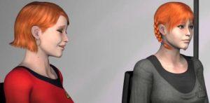 Kara is literally beside herself during Star Trek: Aurora