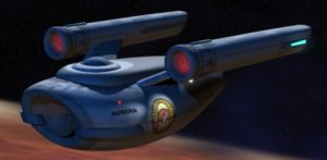 Unlike most Trek productions, the starship in this fan film is a cargo vessel called the Aurora