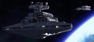 An alliance ship leads the assault on one of the Empire's Star Destroyers