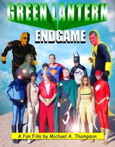 Green Lantern John Stewart (on the left) joins forces with his fellow members of Justice League Unlimted to battle Deathstroke and Sinestro (top row)