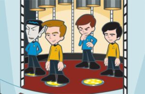 "Mister Spock, Captain Kirk, Doctor McCoy and Ensign Chekov take center stage in ""Official Report"