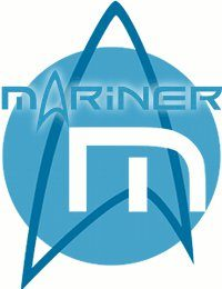 The logo of the Mariner, a starship in the Star Trek universe