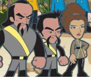 The Klingons become uneasy allies of the Federation during the Armada storyline