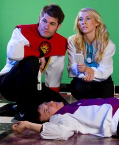 """Captain Sunstrike, Doctor Rena and Commander Powell take a break before embarking on """"The Quest for the Golden Orb"""
