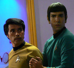 """Captain Kirk and Mister Spock must solve the mystery of """"The Child"""" to save the starship Enterprise"""