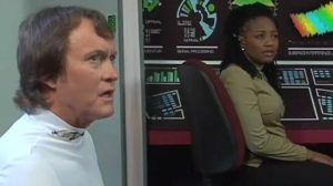 """Captain Gregory and Communications Officer Sharon Mtume are baffled by the mystery of """"Delivery"""