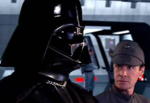 Darth Vader give Captain Galen Hannard orders regarding the escape of two of the villain's apprentices